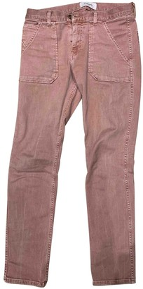 Acquaverde Burgundy Cotton - elasthane Jeans for Women