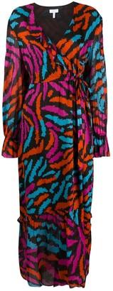 Escada Sport Abstract Print Wrap-Style Dress