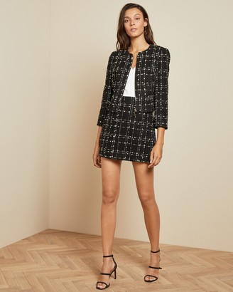 Ted Baker CHARRA Metallic boucle jacket