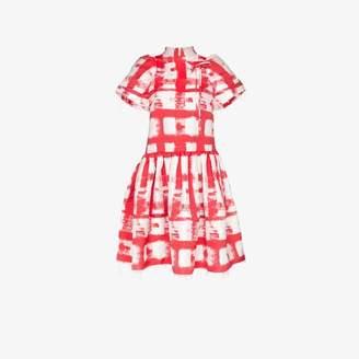 Shushu/Tong check raw edge dress