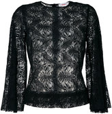 Jucca lace overlay top - women - Cotton/Nylon - 40