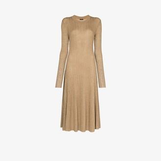 Joseph Diva lurex knit midi dress