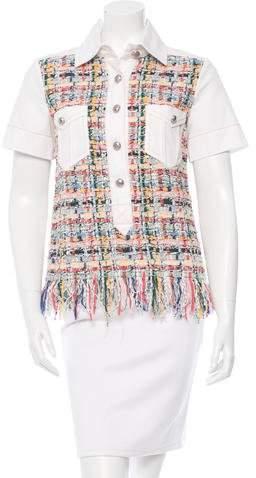 Chanel 2015 Tweed Short Sleeve Top w/ Tags