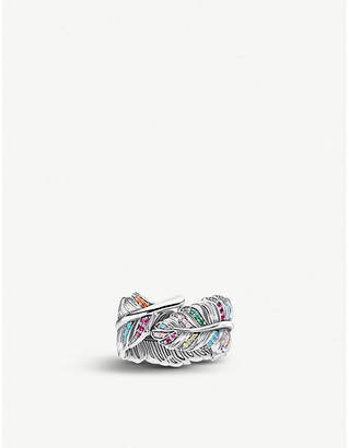 Thomas Sabo Magic Garden sterling silver and glass-ceramic stones ring