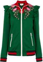 Gucci embroidered technical jersey jacket - women - Silk/Cotton/Acrylic/Rayon - M