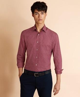 Brooks Brothers Berry-Print Poplin Shirt