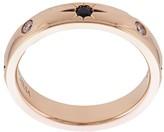 Marchesa 18kt rose gold, diamond and sapphire wedding band