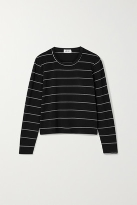 Leset Millie Striped Stretch-jersey Top - Black