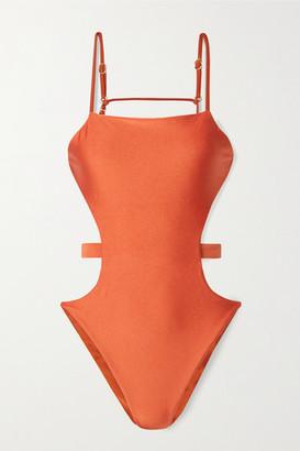 Cult Gaia Gemma Cutout Swimsuit - Bright orange
