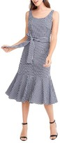 J.Crew Women's Gingham Ruffle Hem Midi Dress