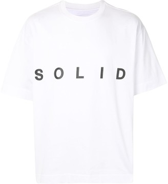 Solid Homme Solid oversized T-shirt