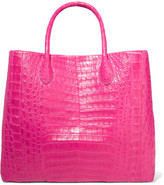 Nancy Gonzalez Medium Glossed-crocodile Tote - Magenta