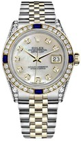 Rolex Datejust Stainless Steel & 18K Yellow Gold White Mother Of Pearl Dial 31mm Unisex Watch