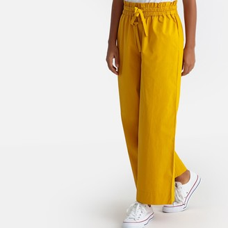 """La Redoute Collections Wide Leg Trousers with Elasticated Waist, Length 25"""""""