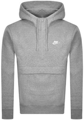 Nike Half Zip Club Hoodie Grey