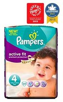 Pampers Active Fit Nappies Size 4 Carry Pack - 24 Nappies - Pack of 2