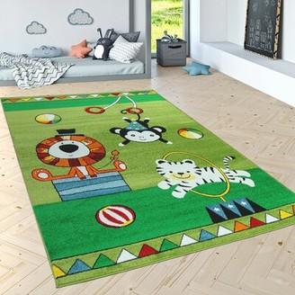 """Zoomie Kids Roanoke Green Area Rug Rug Size: Rectangle 3'11"""" x 5'7"""""""