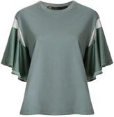 Muller of Yoshio Kubo Muller Of Yoshiokubo fringed flare-sleeved t-shirt