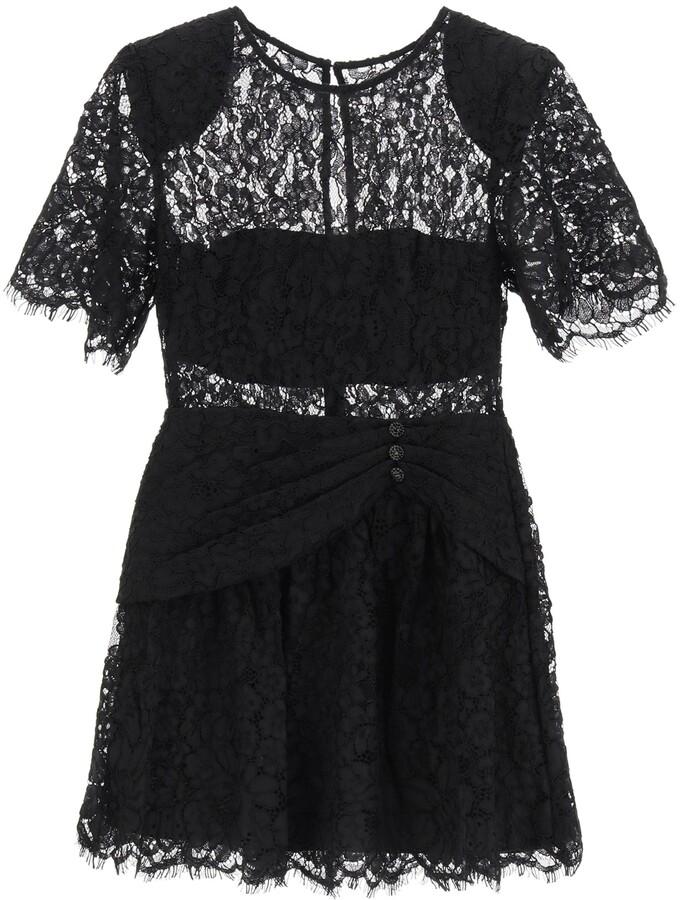 Thumbnail for your product : Self-Portrait LACE MINI DRESS 10 Black Cotton