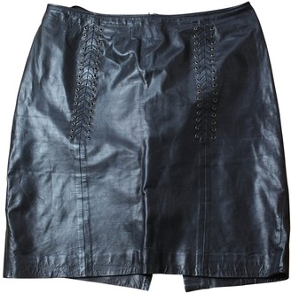Paco Rabanne Black Leather Skirts