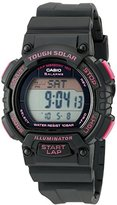 Casio Women's STL-S300H-1CCR Solar Runner Digital Display Quartz Black Watch
