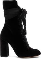 Chloé Velvet Harper Lace Up Boots