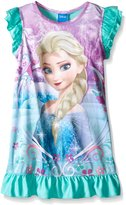 Disney Big Girls Frozen Elsa Frosted Filigree Fun Nightgown