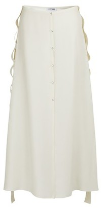 Courreges Buttoned maxi skirt