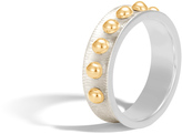 John Hardy Women's Dot 6MM Band Ring in Brushed Sterling Silver and 18K Gold