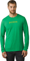 Prana Men's Single Color Chest Print Long Sleeve Logo T-Shirt