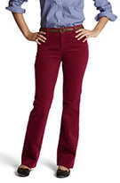 Classic Women's Pre-hemmed Original 14-wale Corduroy Boot-cut Pants-Dark Red