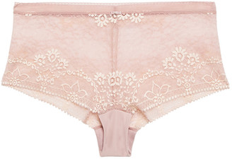 Wacoal Embellished Embroidered Lace Mid-rise Briefs