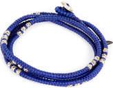 M. Cohen Four layer knotted wrap bead bracelet