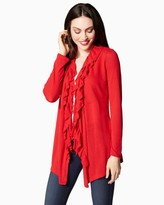Charming charlie Graceful Ruffle Cardigan