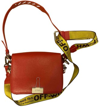 Off-White Binder Red Patent leather Handbags