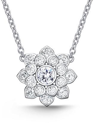 Memoire 18K 1.50 Ct. Tw. Diamond Blossom Necklace