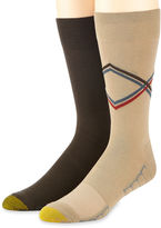 Gold Toe 2-pk. Casual Stripe Argyle Stripe Crew Socks