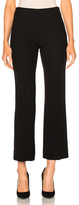 Protagonist Cropped Pintuck Pant in Black.