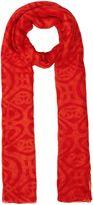 Biba Betsy poly oversized logo scarf