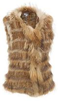 Wilsons Leather Womens Plus Size Knitted Fur Vest