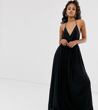 Asos DESIGN Tall t-bar back halter maxi dress