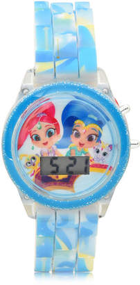 SHIMMER AND SHINE Shimmer And Shine Girls Digital Blue Strap Watch-Sns4070jc