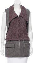 Vera Wang Textured Wool Vest
