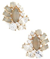 Marchesa Women's Sheer Bliss Cluster Button Earrings