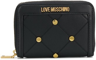 Love Moschino Quilted Stud-Embellished Wallet