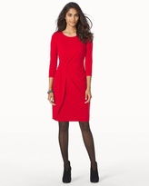 Soma Intimates Long Sleeve Knot Front 3/4 Sleeve Red Short Dress