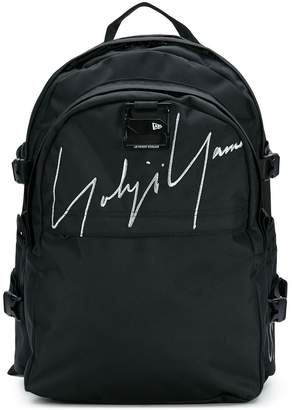 Yohji Yamamoto embroidered signature backpack