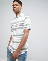 ONLY & SONS Short Sleeve Shirt in Slim Fit with Mixed Stripe