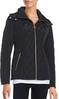 Michael Kors Zip-Front Diamond Quilted Jacket