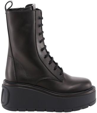Valentino Uniqueform Lace Up Boots